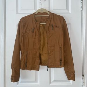 Brown Short Leather Jacket
